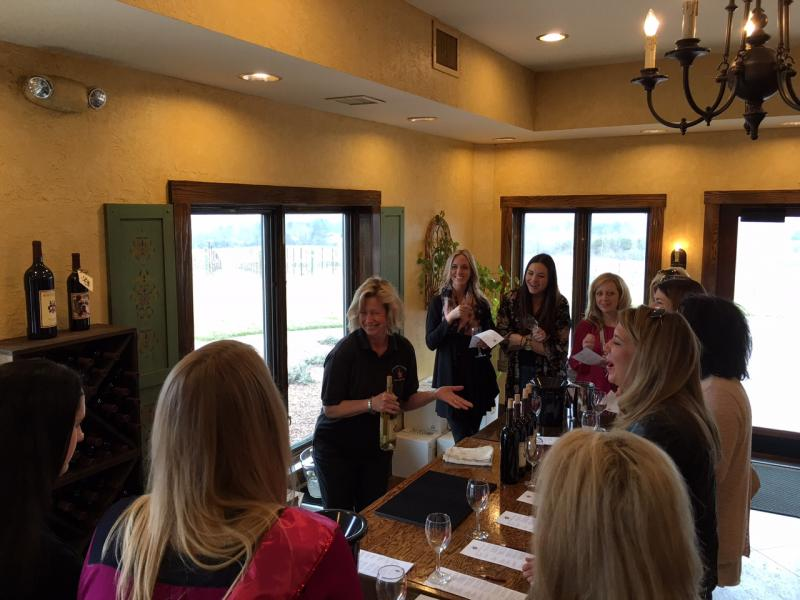 Banging bachelorette party in Charlotte! Wine Tasting Winery Tour