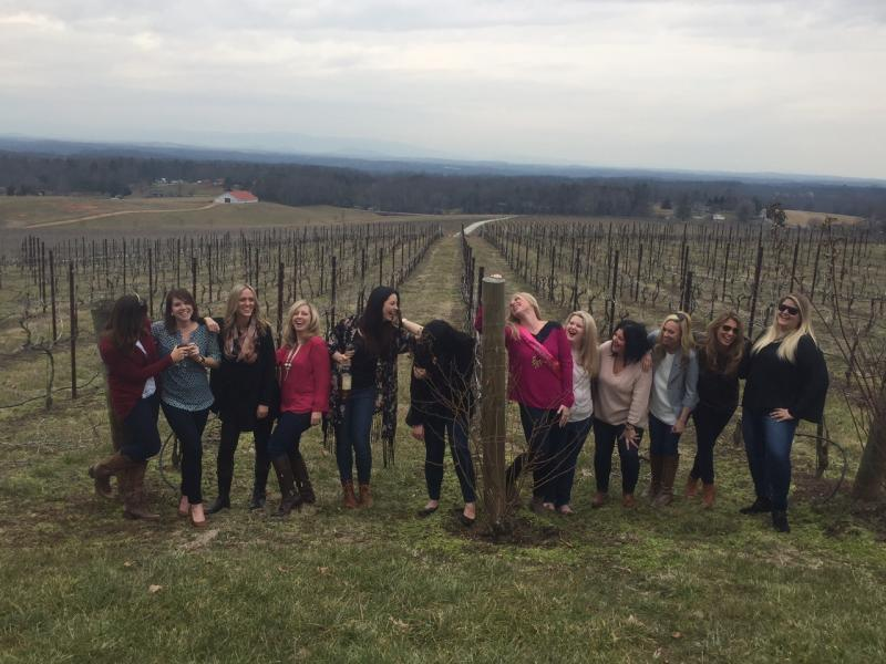 Charlotte bachelorette party wine tasting winery limo tour