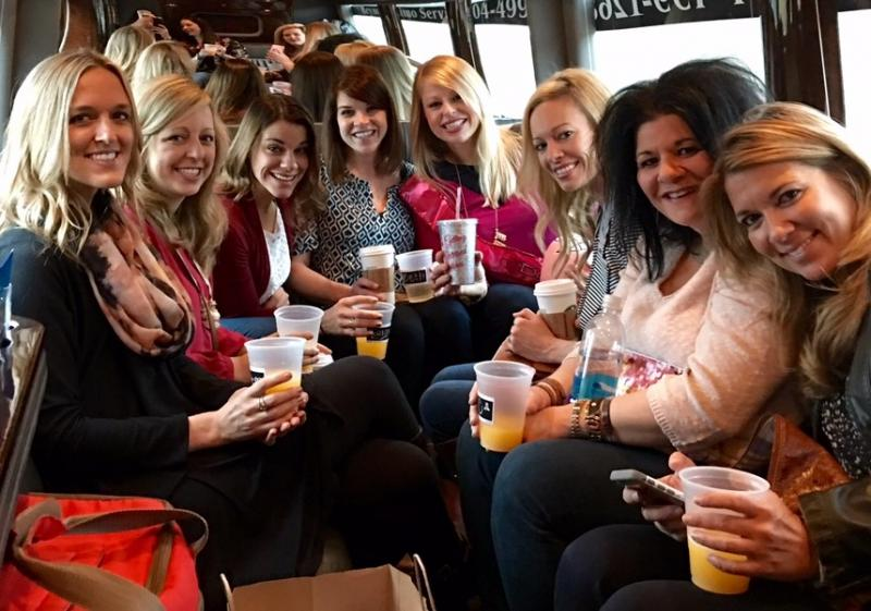 Charlotte bachelorette party limo tours, winery bachelorette, bachlorette tours